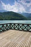 Terrace on Barcis lake Stock Image