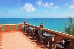 Terrace with beautiful sea view Stock Image