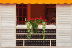 Terrace of beautiful summer cafe of hotel Royalty Free Stock Photography
