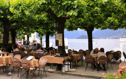 On the terrace in Bellagio Stock Photography