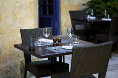 Terrace of a bistro Stock Photo