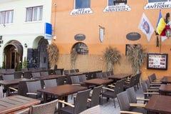 Terrace in Brasov city Stock Photos