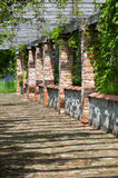 Terrace of a brick house Stock Photography