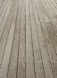 Terrace brown wood floor Royalty Free Stock Photo