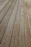 Terrace brown wood floor Stock Photography