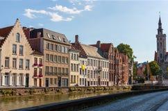 Riverside buildings, Bruges, Brugge, Belgium Royalty Free Stock Photo