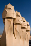 Terrace of the Casa Mila Royalty Free Stock Image