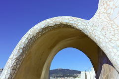 On the terrace of the Casa Mila Royalty Free Stock Image