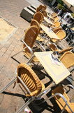 Terrace chairs Stock Photography