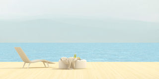 Terrace overlooking the sea Royalty Free Stock Images