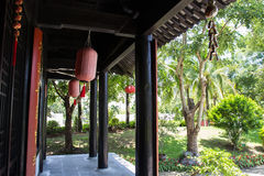 The terrace of chinese antique style house Royalty Free Stock Images