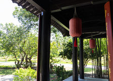 The terrace of chinese antique style house Stock Photography