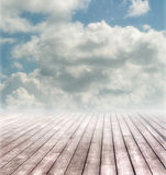 Terrace in The Clouds. Outdoor terrace in the clouds Royalty Free Stock Photos