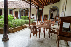 Terrace of a colonial house Royalty Free Stock Photo