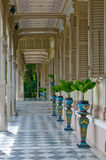 Terrace in colonial style house. Beautiful terrace in colonial style house Royalty Free Stock Photo