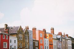 Terrace of colorful houses