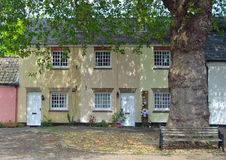 Terrace cottages at Hemmingford Abbots. Stock Photo