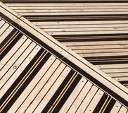 Terrace covered with floorboards Royalty Free Stock Image