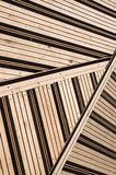Terrace covered with floorboards Royalty Free Stock Images