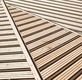 Terrace covered with floorboards Royalty Free Stock Photo