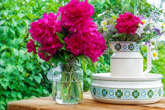 Terrace decoration at Pentecost Stock Photography