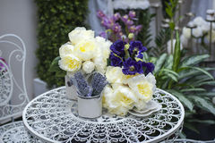 Terrace decoration at Pentecost Stock Photos
