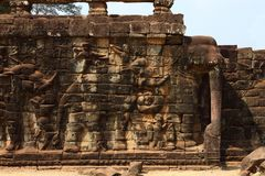 Terrace of Elephants, Angkor Thom Royalty Free Stock Photos