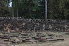 Terrace of Elephants, Angkor Thom Royalty Free Stock Photography