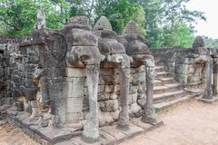 Terrace of the Elephants, Angkor Thom Royalty Free Stock Images