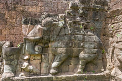 Terrace of the Elephants, Angkor Wat, Cambodia Stock Images