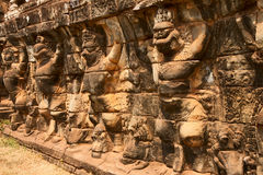 Terrace of the Elephants, Cambodia Stock Photos