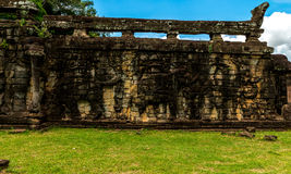 Terrace of the Elephants, Siem Reap Cambodia Sep 2015. Stock Images