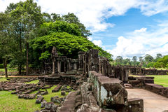 Terrace of the Elephants, Siem Reap Cambodia Sep 2015. Royalty Free Stock Photos