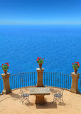 Terrace with fantastic view to the sea Stock Image