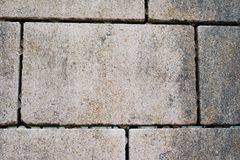 Terrace floor covered with paving stones Stock Image