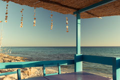 Terrace in Formentera Royalty Free Stock Photos