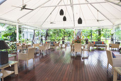 Terrace in front of the australian jungle Stock Photography