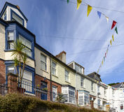 Terrace at Fowey, Cornwall Stock Images
