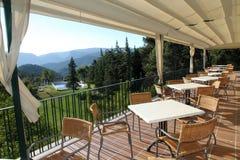Terrace and garden State run hotel in Cazorla Spain Stock Photos