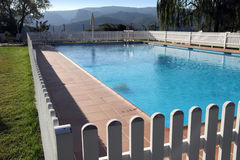 Terrace and garden State run hotel in Cazorla Spain Royalty Free Stock Photos
