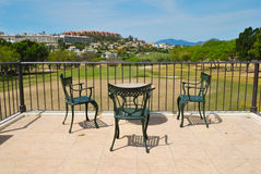 Terrace golf Stock Images