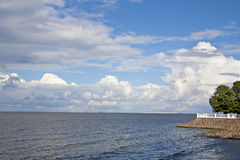 Terrace on the Gulf of Finland Stock Photos