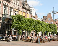 Terrace in Haarlem Stock Images