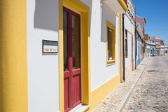 Terrace houses in Castro Marim, Portugal Royalty Free Stock Photography