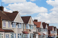 Terrace houses in London Stock Images