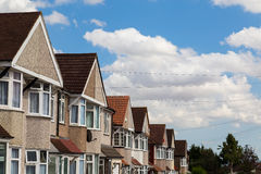 Terrace houses in London Royalty Free Stock Photography