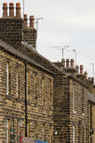 Terrace houses in North England Royalty Free Stock Photos