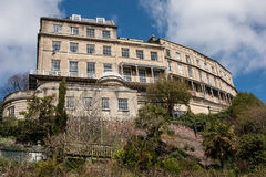 georgian crescent bristol uk the Paragon. The Paragon, a terrace (crescent) of Georgian houses in Clifton, Bristol, UK. This is a view of the rear with the Stock Image