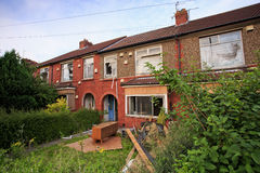 Terrace houses ready to be demolished. In Bristol, UK Royalty Free Stock Photography