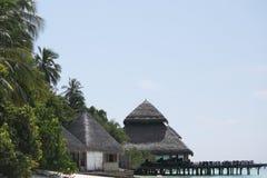 Terrace houses on the beach Stock Photography
